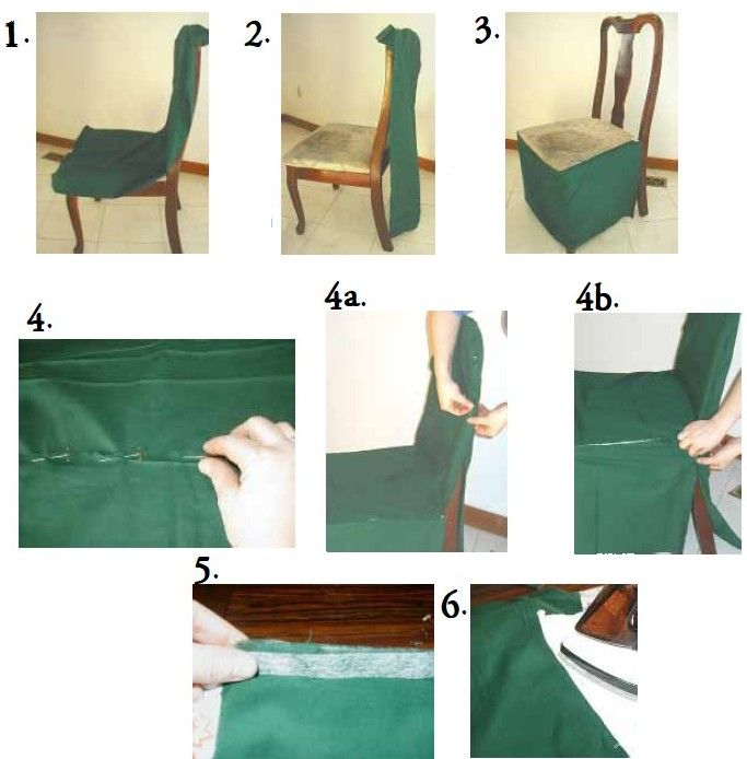 HOW TO MAKE A DINING CHAIR COVER | Chair Pads & Cushions