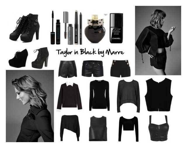 """Taylor in Black by Marre"" by marremusic on Polyvore featuring moda, Boohoo, Fendi, Crea Concept, Steffen Schraut, Oasis, T By Alexander Wang, Zara, Ally Fashion y True Religion"