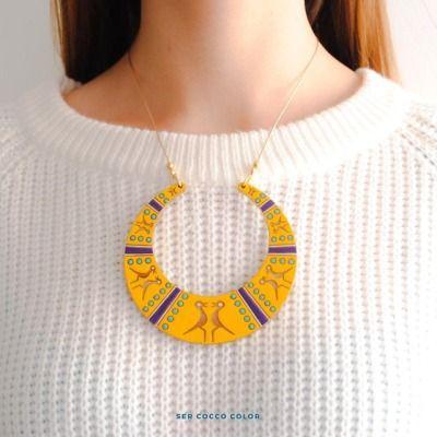 Nuestro collar Aro. Divino para cualquier ocasión.  #accesoriosdemadera #colombia #identidad #fashion #trendy #moda #modafemenina #diseñoindependiente #diseño #blogger #fashionblogger #coccocolor #hechoamano #hechoencolombia #diseñocolombiano...