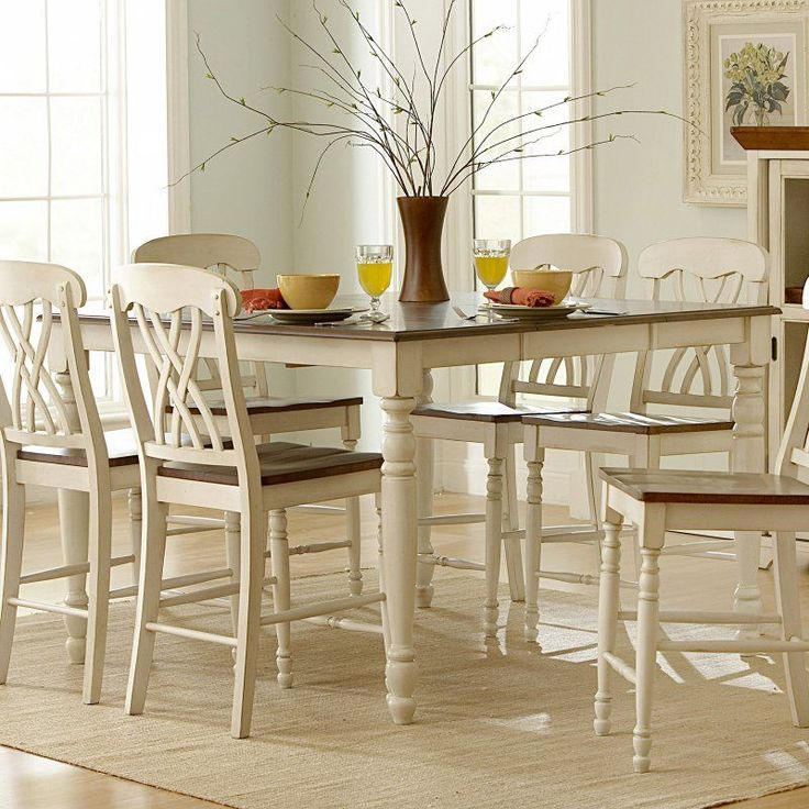 Weston Home Ohana Counter Height Dining Table With Leaf White U0026 Cherry    1393W 36 Part 98