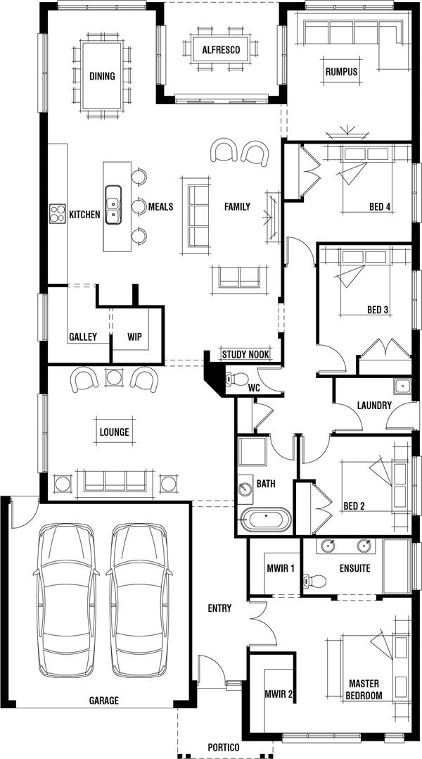 Vancouver 4 Bedroom Single Storey House Plan Porter Davis Single Storey House Plans My House Plans House Design