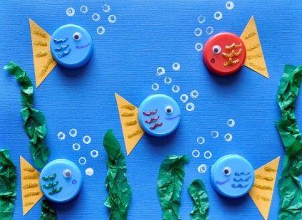 Рыбки из крышек - Сайт для мам малышей