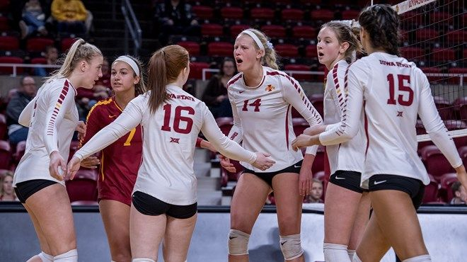 Cyclones Tabbed To Finish Third In Big 12 Volleyball News Iowa State Volleyball Team