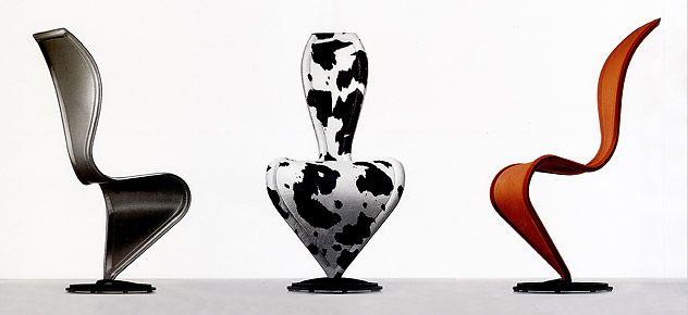 #excll #дизайнинтерьера #решения Вверху стул S, который запустили в производство  Capellini. Со слов дизайнера изначальным вдохновением для стула был рисунок обычной курицы…к счастью, после долгих трудов результат имеет мало общего с изначальной идеей.