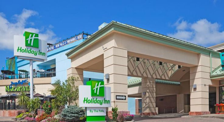 Holiday Inn Niagara Falls-By the Falls Niagara Falls Adjacent to the Skylon Tower in the heart of Niagara Falls, this Ontario hotel boasts an indoor and an outdoor pool. It features an on-site gift shop, a fitness centre and free wireless internet access.