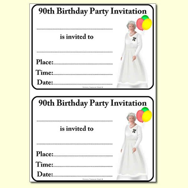 17 Best ideas about Queens 90th Birthday – Royal Garden Party Invitation