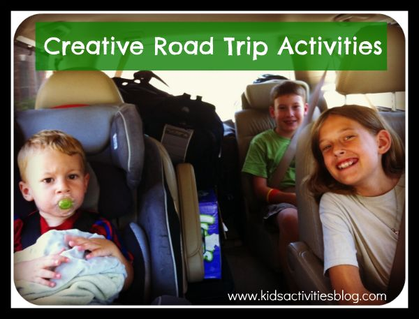 "While I attempt to engage them with occasional, ""Kids, look at the gorgeous mountain over there!"", there is only so much looking out the window at miles & miles of wheat fields that we can do.  So this summer, I came up with a list of creative road trip activities to engage us during our car trip."