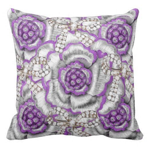 Lavender throw pillows are plush cute and great for a purple  home décor theme.  Lavender accent  pillows look great in bedrooms, living rooms and even in seating areas.  Place light purple throw pillows on couches,  beds or even chairs to create comfort, beauty and relaxation in a room.  #lavender #throwpillows      Bling, Glitzy, Endless Rose Lavender, Print Outdoor Pillow