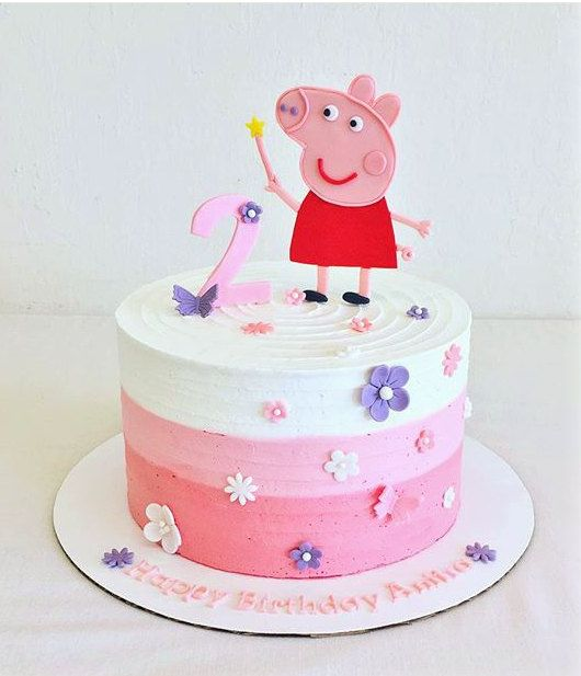 Peppa Pig fondant cake set by CuteFondant on Etsy