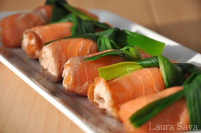 Rulouri de somon cu orez - Retete culinare cu Laura Sava | Retete culinare cu Laura Sava
