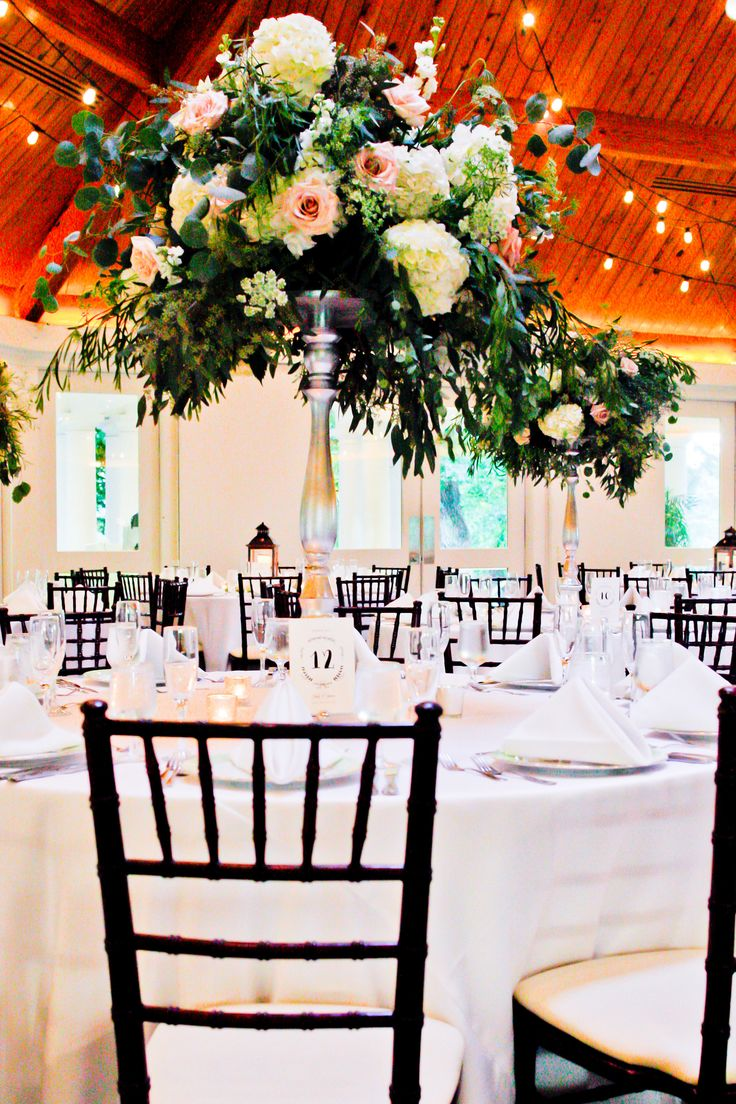 do you invite officiant to wedding reception%0A Airlie Pavilion Wedding Reception  Floral Wedding Reception Decor  Photo  Credit Kristine Pringle