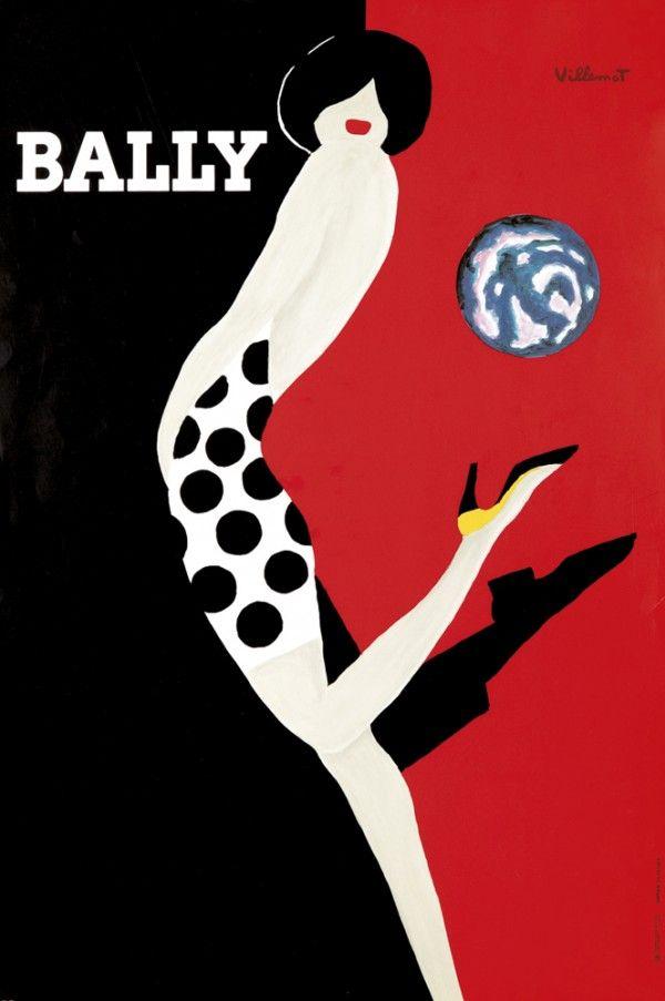 598. Bally: Poster, de Bernard Villemot