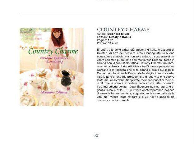 Recensione del libro Country Charme sulla rivista Business Class