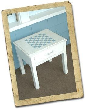 Painting a checkerboard design on a table is a great project that will  infuse your front porch (or wherever) with that old-fashioned, laid-...