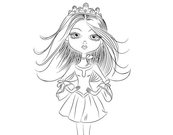 Dibujo de Princesa moderna para colorear