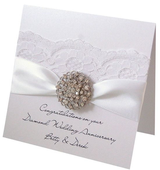 60th Diamond Wedding Anniversary Card.