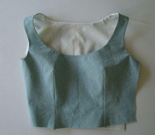 doubler ou poser une parmenture sur une robe sans manche