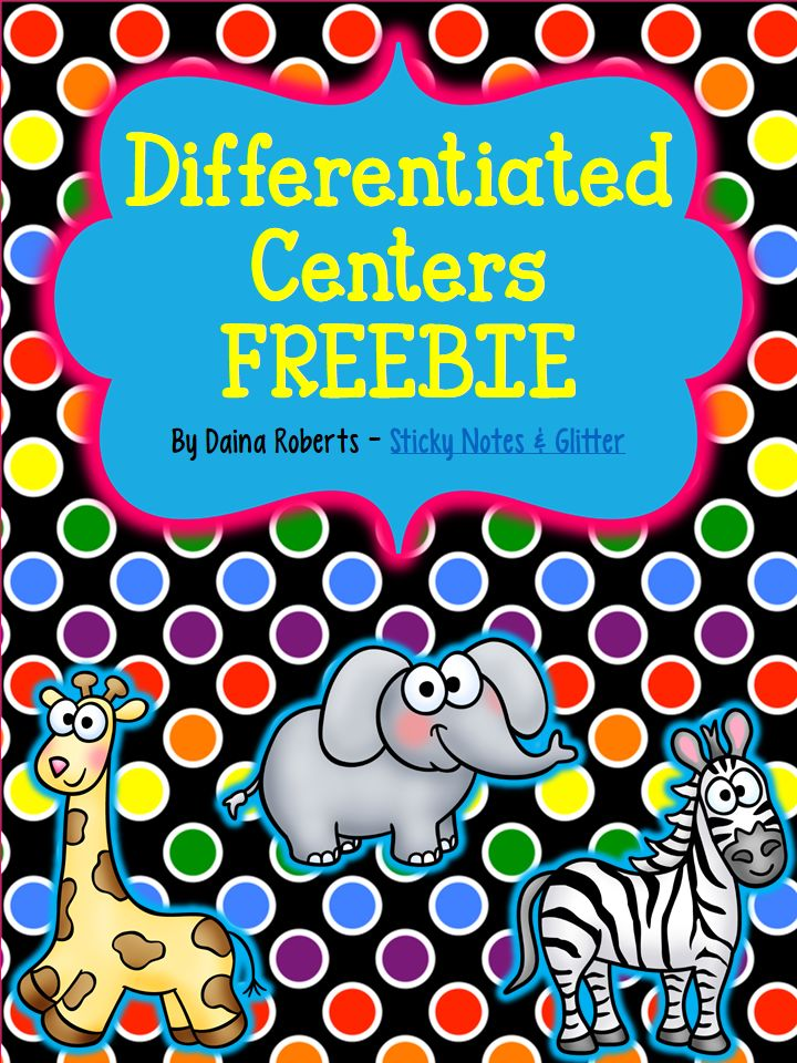 Sticky Notes & Glitter: Differentiated Reading Centers: An Overview & a Freebie!