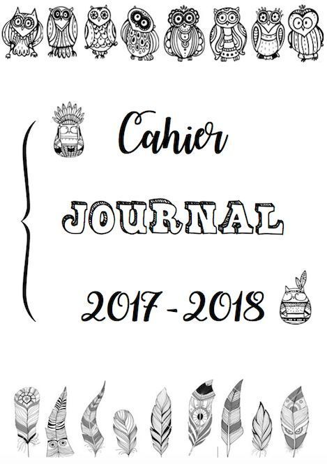 Cahier journal 2017-2018