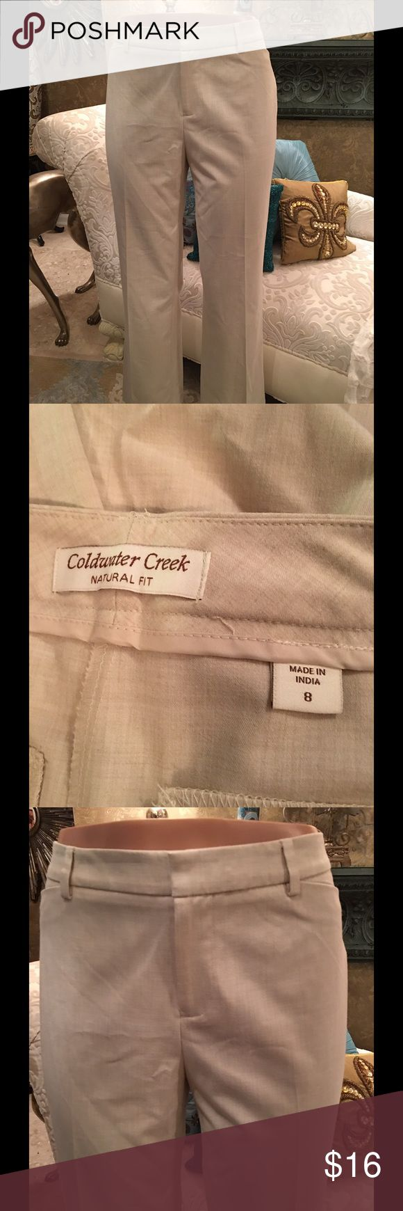 Coldwater Creek Cream Pants Great for any event💋💋 Coldwater Creek Pants