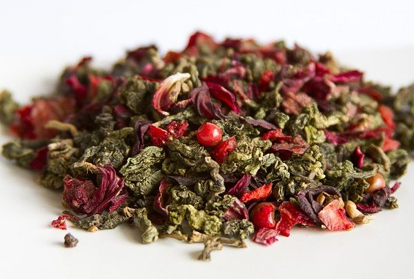 Koh Phi Phi: chá oolong, morango, hibisco e pimenta rosa.