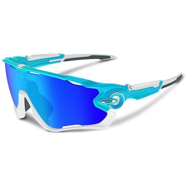 OAKLEY Jawbreaker Sky sapphire iridium napszemüveg. Színes lencsés Oakley sport napszemüveg, mely különleges kialakításának köszönhetően minden sportágban megbízható társ lehet. Stabil illeszkedés és könnyű, kényelmes viselet jellemzi. Lencséje UV400-as szűrőt tartalmaz, mely megvédi a szemet a káros sugaraktól. KATTINTS IDE!