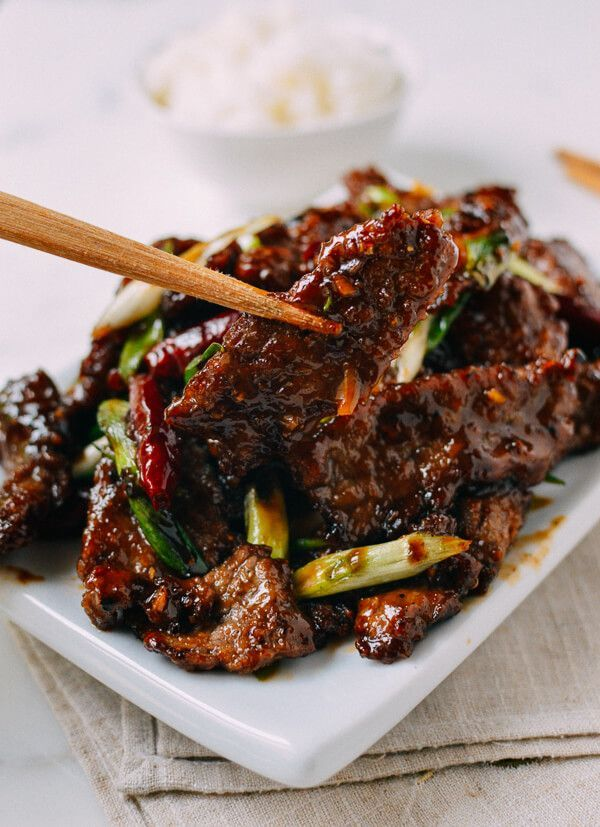 Mongolian Beef, by thewoksoflife.com  Recipe is a crispy, flavorful homemade version that's less sweet than the gloopy  restaurant you're probably use to.