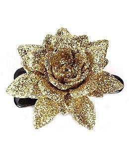Many Frocks & Rose Clip - Black & Gold