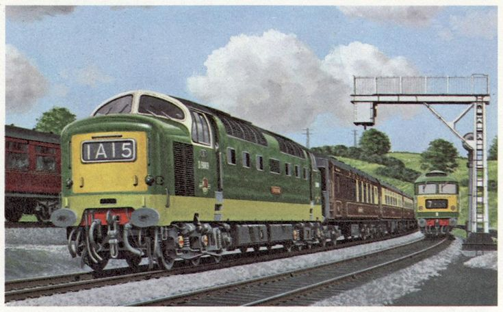 """'""Deltic"" 3,300 h.p. diesel No. D9009 Alycidon... and Brush 2,750 h.p. Type '4' diesel"".' Ian Allan Book of Trains."""
