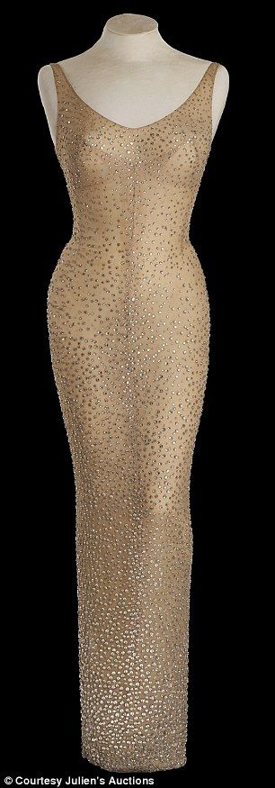 Unique: The dress, pictured, features more than 2,500 crystals and was custom-made for the...