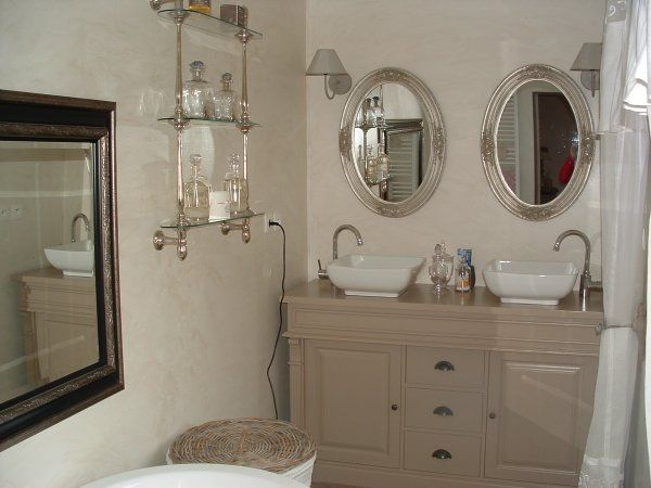 11 best Style shabby chic images on Pinterest Shabby chic style - meuble salle de bain fer forge