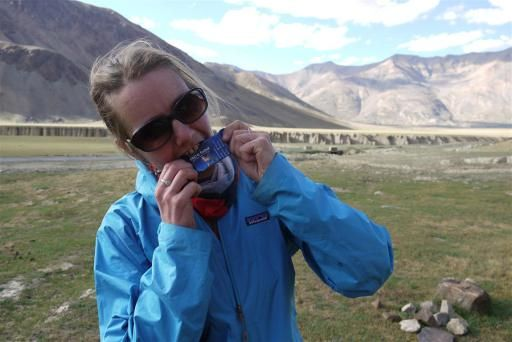 """This is Bridget Ringdahl - Author of Blond on a bike, http://bridgetsbikeblog.wordpress.com/ while riding in the Himalayas... this is what she has to say: """"Then there was Race Food. Wedgewood, our famous nougat family run business in Howick kindly supplied us with heaps of Race Food for those moments when Sundar wasnt around to ply us with his amazing meals. Race Food did the trick - simple and delicious stuff www.racefood.co,za"""""""