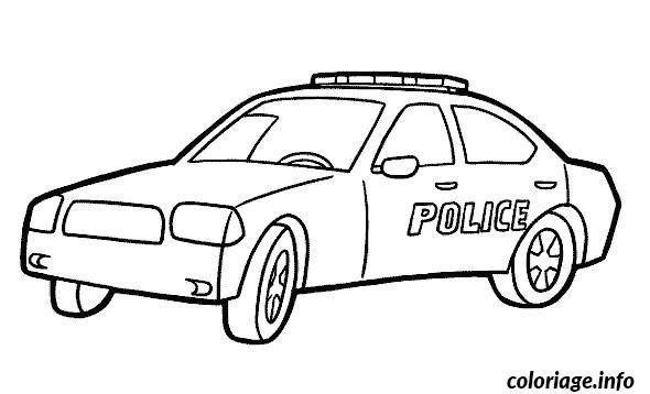 Coloriage Voiture Police Dessin A Imprimer Coloriage Moto