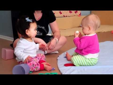 Social and Emotional SED15 The older infant begins to seek out peers. Baby Games- How Infants Develop Social Skills with Video Demo. This video shows the parallel play of two infants.  It shows the interactions between the two babies as they both desire the same toy
