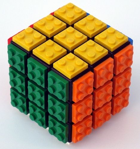 """LEGO Rubik's Cube - If you ♥ LEGO, come have a look at LEGO LOVE board http://pinterest.com/almaisoncloud9/lego-love - I am the French-Israeli designer of """"Mademoiselle Alma"""". Inspired by my daughter, ALMA, I create Jewelry made from LEGO bricks, SWAROVSKI crystals and of course, a great amount of imagination. *** http://www.facebook.com/MademoiselleAlma Hope you LIKE my Facebook page-shop ♥ & http://www.etsy.com/shop/MademoiselleAlma #LEGO"""