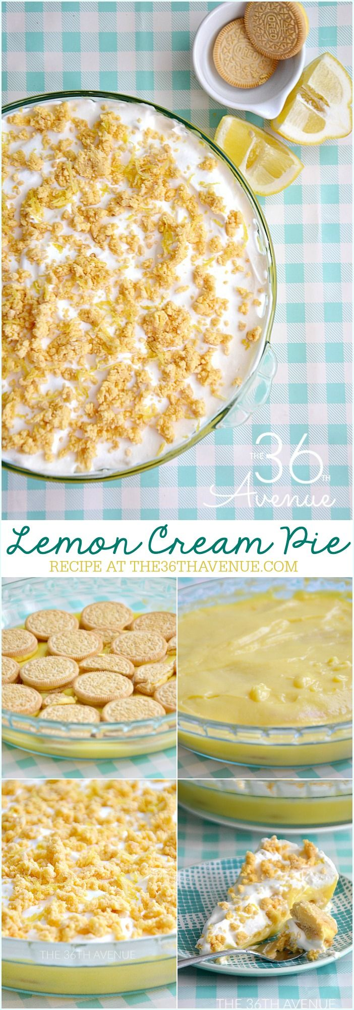 Dessert Recipe - This Lemon Cream Pie is a delicious and easy dessert recipe that your entire family is going to love.