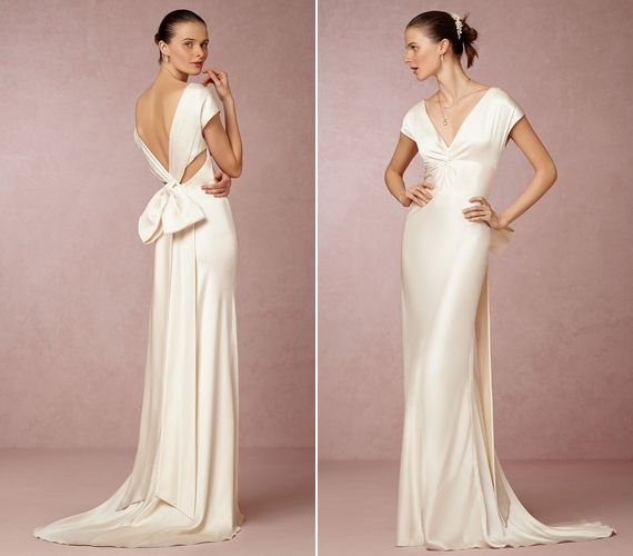 Simple gown  with an unusual back detail!
