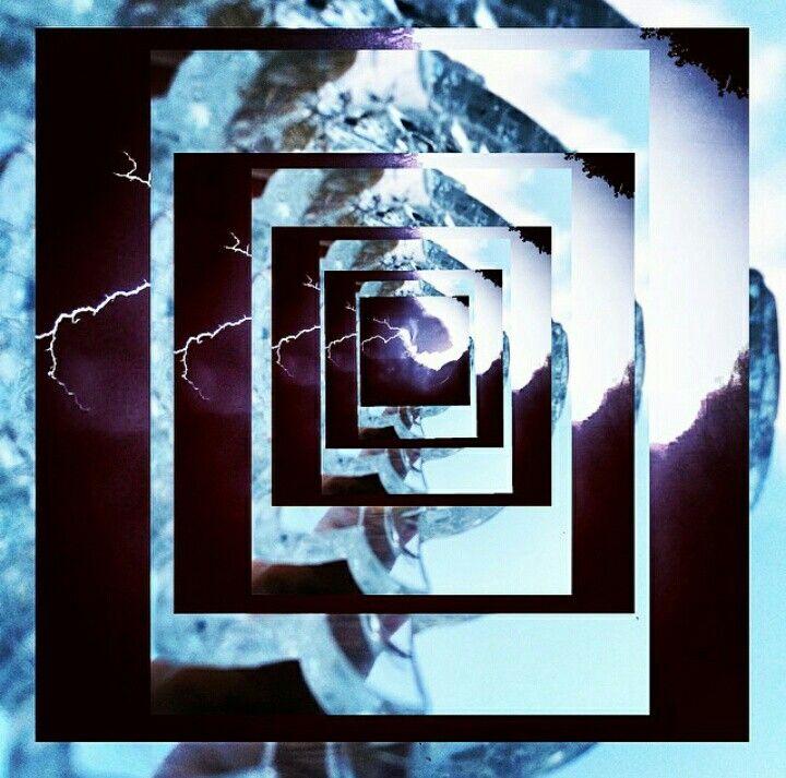 #lightning #glass #collage #crack #blue