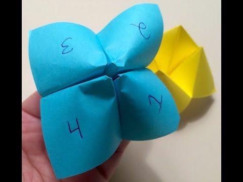 Origami Fortune Teller - YouTube
