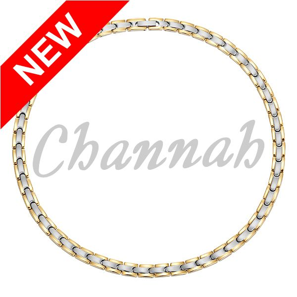 Channah 2017 Magnetic Women 2-Tone Gold Magnet 316L Stainless Steel Necklace Lady Magnetic Bio Jewelry Gift Free Shipping Charm