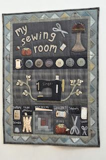 My Sewing room from The Quilted Crow