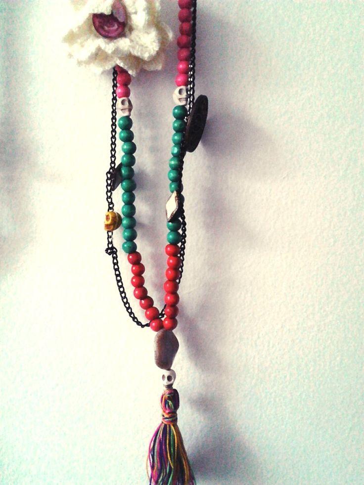 #collarcalaveras #accesorioscroche #collares #skull #dia delos muertos