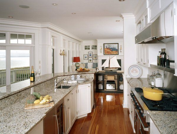 17 best ideas about giallo ornamental granite on pinterest for Long narrow kitchen designs