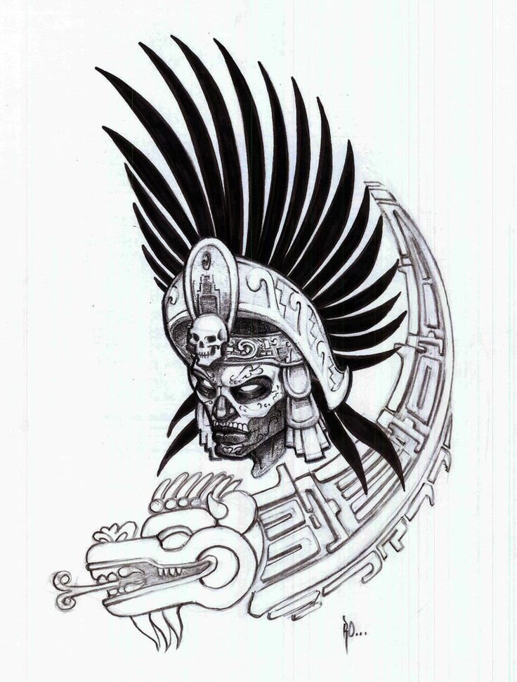 aztec-warrior-drawing-black-white-aztec-warrior-by-ralfelor-i5WH10-clipart.jpg (778×1026)
