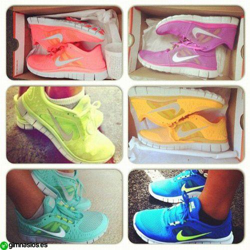 #bambas #colores #deporte #sport #ejercicio #entrenamiento #sneakers # colours. Nike RunningNike Free