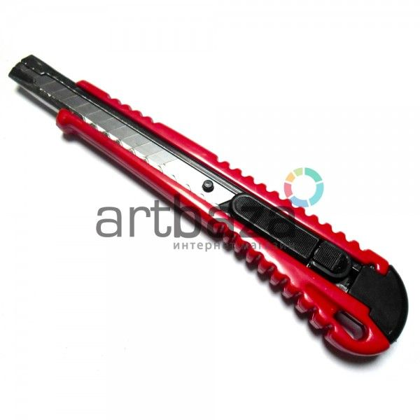 Нож канцелярский XINFA 9 мм. с металлической направляющей - Артбаза - художественный магазин
