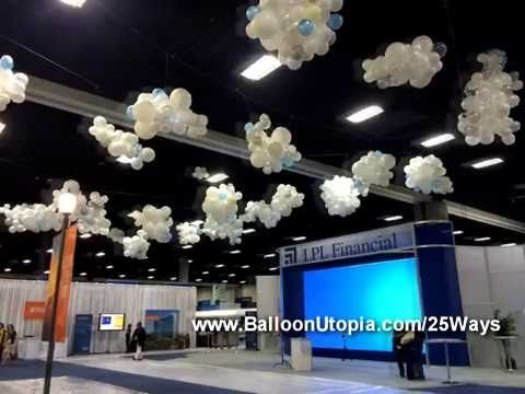 641 best balloon ceilings images on pinterest hot air for Balloon cloud decoration
