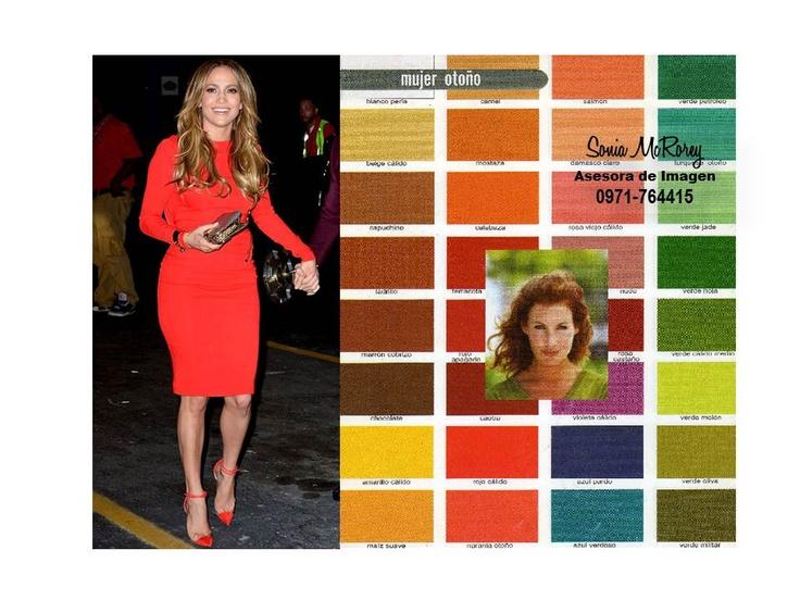 Ejemplo de Mujer Otoño, con sus mejores colores a nivel general. Esta estación se sub-divide en: Otoño Oscuro, Cálido y Suave