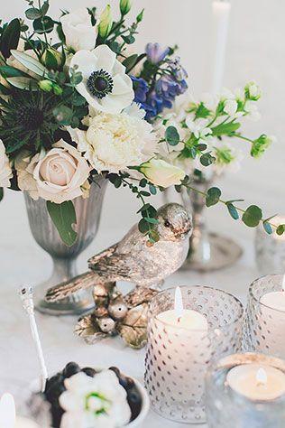 Воздушное утро невесты в голубых тонах, элементы декора