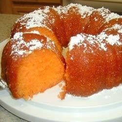 Orange Juice Cake Allrecipes.com  (maybe I'll us DH Orange Supreme cake mix instead of yellow).